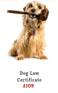 dog law certificate slide